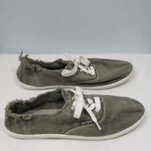 Lola Distressed Olive Green Sneakers Size 9